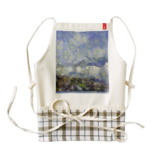 Storm over shore zazzle HEART apron
