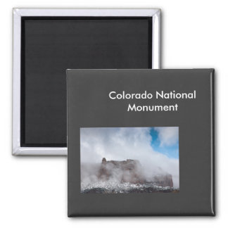 Storm Over the Colorado National Monument 2 Inch Square Magnet