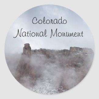 Storm Over the Colorado National Monument Classic Round Sticker