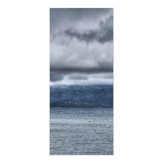 Storm Over The Lake 4x9.25 Paper Invitation Card