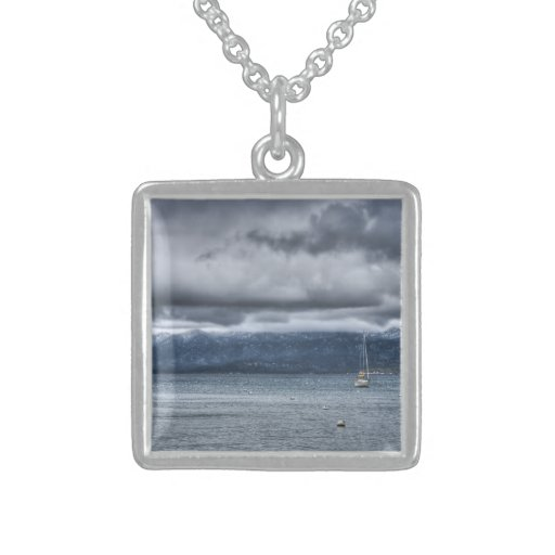 Storm Over The Lake Custom Necklace