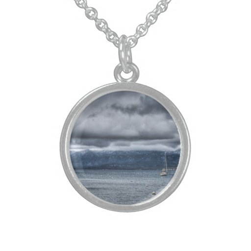 Storm Over The Lake Sterling Silver Necklaces
