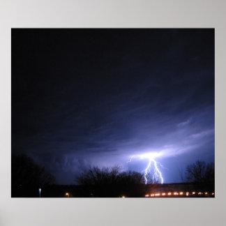Storm over the Mississippi River Poster