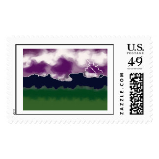 storm over the mountains postage stamps