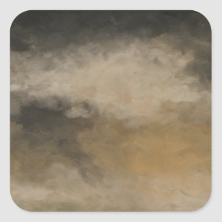 Storm Over the Wood by Fine Artist Alison Galvan Square Sticker