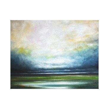 Art Themed Storm over Wetlands Canvas Print