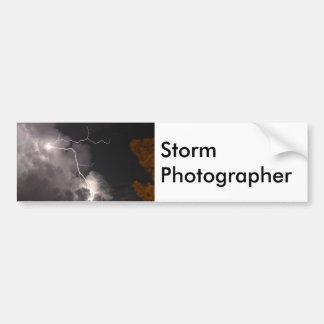 Storm Photographer Lightning Bumper Sticker