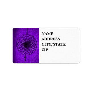 'Storm púrpura vibrante Etiqueta De Dirección