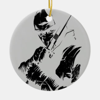 Storm Shadow Double-Sided Ceramic Round Christmas Ornament