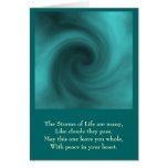 storm, The Storms of Life are many,Like clouds ... Greeting Card