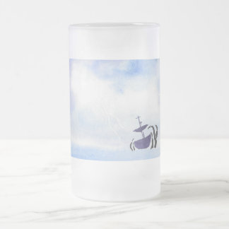 Storm Tossed Ship Frosted Mug