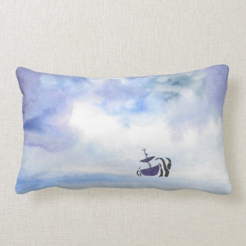 Storm-Tossed Ship Pillow