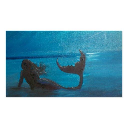 """Storm Watch"" Mermaid Business Card"
