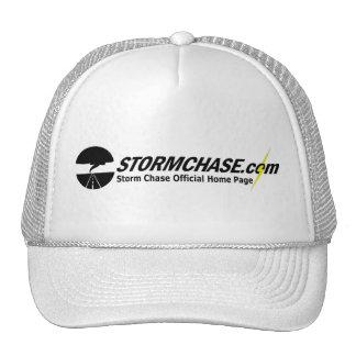 StormChase.com Ball Cap (White) Mesh Hats