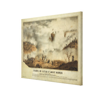 Storming and Capture of Lookout Mountain Civil War Canvas Print