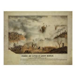 Storming and Capture of Lookout Mountain Civil War Poster