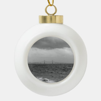 Storming at the Skyway 2 Ceramic Ball Christmas Ornament