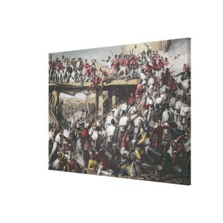 Storming of Delhi Canvas Print