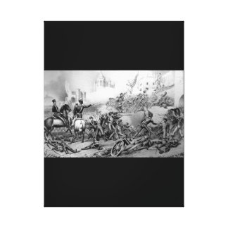 Storming of Monterey.  Attack on the Bishop's Pala Canvas Print