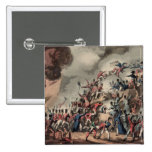 Storming of St. Sebastian, engraved by Thomas 2 Inch Square Button