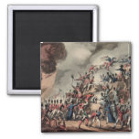 Storming of St. Sebastian, engraved by Thomas 2 Inch Square Magnet