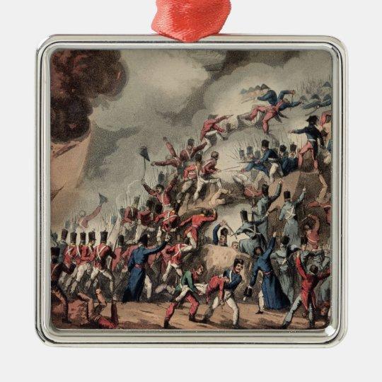 Storming of St. Sebastian, engraved by Thomas Metal Ornament