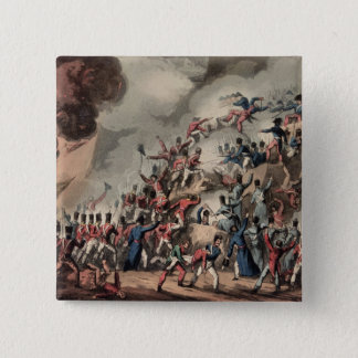 Storming of St. Sebastian, engraved by Thomas Pinback Button