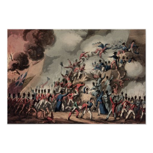 Storming of St. Sebastian, engraved by Thomas Poster