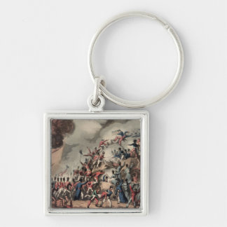 Storming of St. Sebastian, engraved by Thomas Silver-Colored Square Keychain
