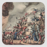 Storming of St. Sebastian, engraved by Thomas Square Sticker