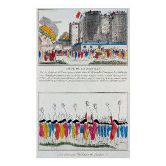 Storming of the Bastille in the French Revolution Poster