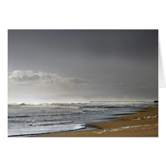 Storming Sea, Distant Pier Card