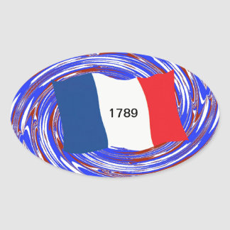 Storming the Bastille, 14 July 1789 Oval Sticker