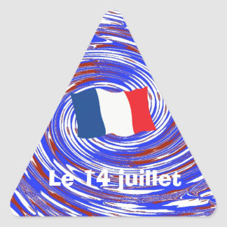 Storming the Bastille, 14 July 1789 Triangle Sticker
