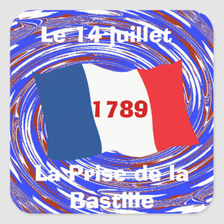 Storming the Bastille, 14 July 1789 Square Sticker