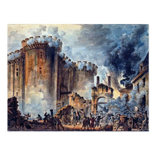 Storming the Bastille, 1900, Paris Postcard