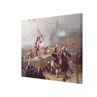 Storming the Battlements (oil on canvas) Canvas Print