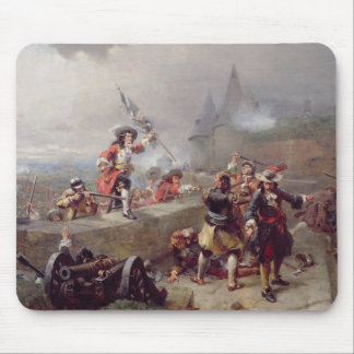Storming the Battlements (oil on canvas) Mouse Pad