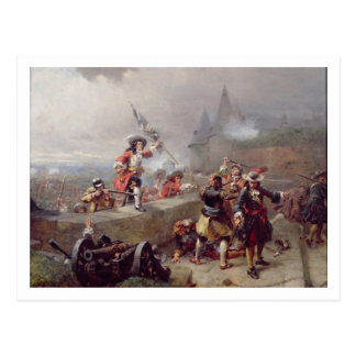 Storming the Battlements (oil on canvas) Postcard