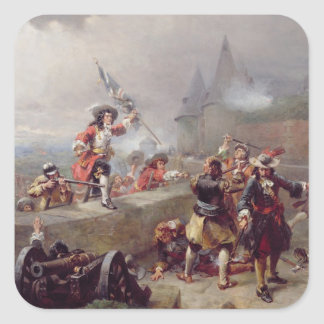 Storming the Battlements (oil on canvas) Square Sticker
