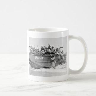 Storming the Beach, 1940s Classic White Coffee Mug