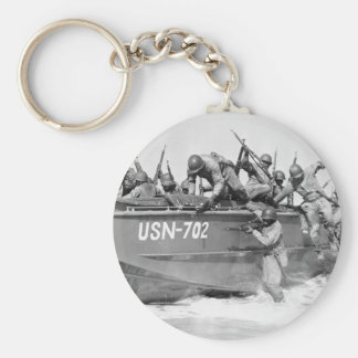 Storming the Beach, 1940s Keychain