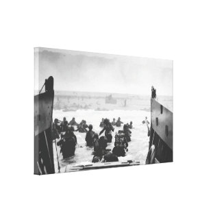 Storming The Beach On D-Day Painting Gallery Wrapped Canvas