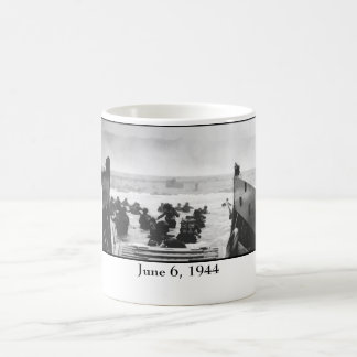 Storming The Beach On D-Day Painting Classic White Coffee Mug
