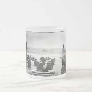 Storming The Beach On D-Day Painting 10 Oz Frosted Glass Coffee Mug