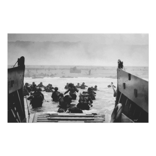 Storming The Beach On D-Day Painting Print