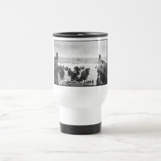 Storming The Beach On D-Day Painting Travel Mug