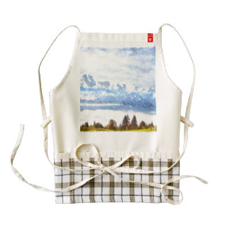 Storms coming over a silent plain zazzle HEART apron
