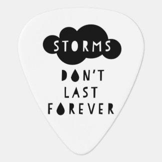 Storms Don't Last Forever Guitar Pick Light