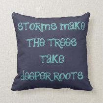 storms make the trees double sidded pillow